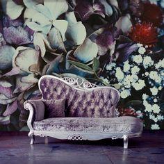 Purple floral clipart wallpaper home decor wall Wallpaper Stickers, Wall Decor Stickers, Purple Wallpaper, Wall Wallpaper, Peel And Stick Wallpaper, Wall Decals, Adhesive Wallpaper, Flower Wall Design, Floor Decal