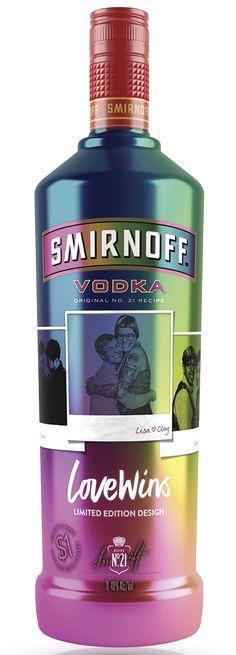 """SMIRNOFF Vodka No. 21 """"Love Wins"""" Limited Edition Bottle"""