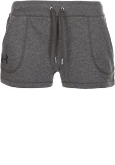 Under Armour FRENCH TERRY - kurze Sporthose - carbon heather/black - Zalando.de