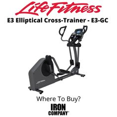 The E3 Elliptical Cross-Trainer from Life Fitness is the perfect home cardio machine for the person looking for a low-impact, total body workout along with motivating variety. The E3 Elliptical Cross-Trainer is a step above the E1 Cross-Trainer. It has everything you expect from Life Fitness – unparalleled quality, a fluid total body motion, and an incredible natural feeling, comfortable stride. Eddy Current, Elliptical Cross Trainer, Cardio At Home, Cardio Equipment, Total Body, Trainers, The Incredibles, Workout, Natural