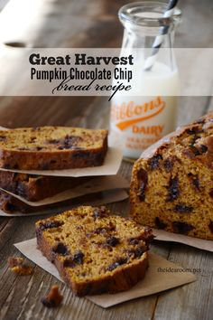 Great Harvest Pumpkin Chocolate Chip Bread   theidearoom.net