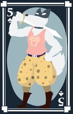Doggo the Five of Spades by pika-chan2000