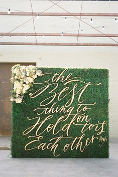 Wedding Trends - Greenery wedding decor is easy way to add nature and style to your reception. Greenery is a wonderful alternative to florals, that will give a lush look. Wedding Ceremony Ideas, Wedding Signage, Ceremony Decorations, Wedding Trends, Wedding Backdrops, Wedding Aisles, Wedding Altars, Wedding Ceremonies, Wedding Receptions