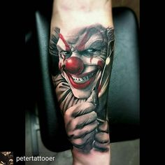 Scary ass clown!! Tattoo by @petertattooer @petertattooer _______________#tattoosofinstagram #татуировка #tatu #tattoo #татуировки #tattoooftheday #tatovering #amazingtattoos #Tätowierung #tattooinspiration #tatuering #tatuaje #وشم #tat #tatt #blackngrey #colortattoos #문신 #tatuaż #realistictattoos #inkedup #tatuaggio #タトゥー #tato #tattooitalia #tatouages #tattoolove