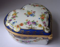 Tiffany Co 1983 Private Stock Porcelain Heart Trinket Box Limoges France | eBay