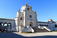 Chapel Famedio at Monumental cemetery (Cimitero Monumentale) in Milan, Italy.