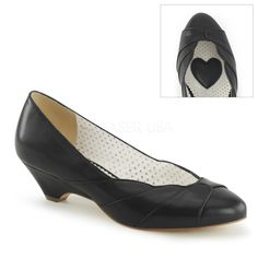 Pin Up Couture LULU-05 Black Retro-Inspired Pumps