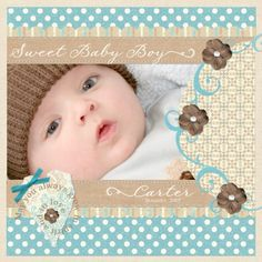 baby layouts scrapbooking | Scrapbook layouts