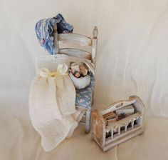 Dollhouse set. Sewing a summer dress 1:12 scale by DEMENTEAMANO on Etsy