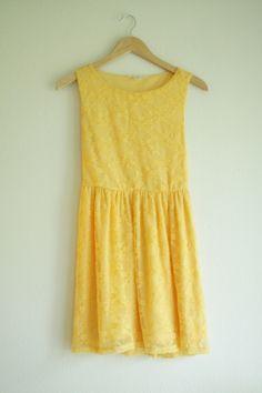 Yellow Lace Dress, S