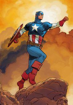 "Captain America by Evan ""Doc"" Shaner"