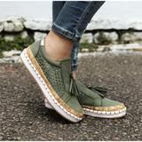 Women Slip On Hollow Out Flats Ladies Breathable Loafers Casual Platform Vulcanized Sewing Sneakers Shoes Clothing Sites, Ladies Slips, Espadrilles, Shoes Sneakers, Loafers, Platform, Slip On, Flats, Casual