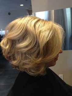 Color, cut & style by Katelyn! #curls #blonde #bighairrules