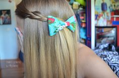 Cute hair rope twist with a bow