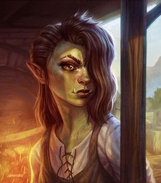Dungeons And Dragons Characters, Dnd Characters, Fantasy Characters, Dungeons And Dragons Ranger, Fantasy Races, Fantasy Rpg, Medieval Fantasy, Fantasy Portraits, Character Portraits