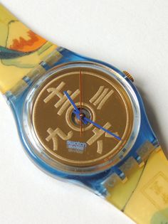 Vintage Swatch Watch The Lake GN138 90s swatch by CoolRelics