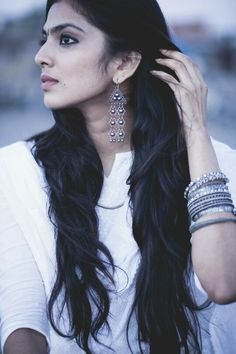 Love the dark wavy soft texture made by hairs- saved from The scarlet window- Malavika Mohanan