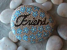 """Hand Painted Stone """"Friend"""""""
