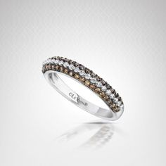 14K Vanilla Gold™ ring with 0.39 carats of Chocolate Diamonds® and 0.15 carats of Vanilla Diamonds™ #AnniversaryWishList