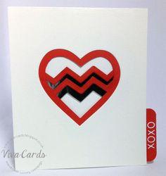 086 - Handmade Card - Foil XOXO Heart