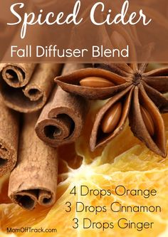 Looking to bring Fall inside and spice up your diffuser with some new essential oils blends? I have some great Fall diffuser blends for you to try then. Ginger Essential Oil, Essential Oil Diffuser Blends, Doterra Essential Oils, Natural Essential Oils, Doterra Diffuser, Natural Oils, Perfume, Aromatherapy Oils, Aromatherapy Recipes