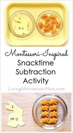 Montessori-Inspired Snack Time Subtraction Activity