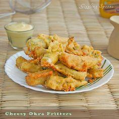 Yummy Recipes: Cheesy Okra Fritters