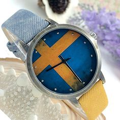Kezzi Women's K1048 Casual Quartz Sweden Flag Dial Watch Blue Yellow Leather Strap Kezzi http://www.amazon.com/dp/B00WTOLJY6/ref=cm_sw_r_pi_dp_ILzvvb1Z6AXET