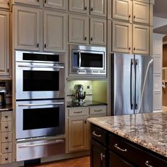 Amazing History of Double Oven Kitchen Layout Islands Refuted - Kitchen - Island Kitchen Ideas Double Oven Kitchen, Kitchen Oven, Kitchen Redo, Home Decor Kitchen, New Kitchen, Kitchen Remodel, Kitchen Bars, Kitchen Ideas, Kitchens With Double Ovens