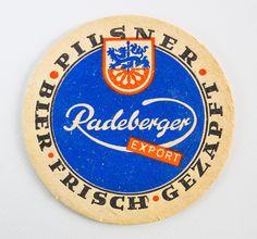 """DDR Museum - Museum: Objektdatenbank - """"Bierdeckel Radeberger Export"""" Copyright: DDR Museum, Berlin. Eine kommerzielle Nutzung des Bildes ist nicht erlaubt, but feel free to repin it!"""
