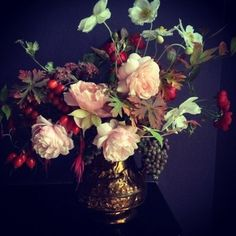 Flora Starkey flowers - I really like the way they reference old master paintings / Dutch still life.