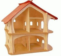 Spielhaus Puppenhaus Holzhaus Waldorf Holzkunst Krippe In