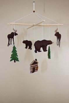 Forest Animals / Camping / Woodsy / Rustic  Baby by EmilysSpace, $48.00