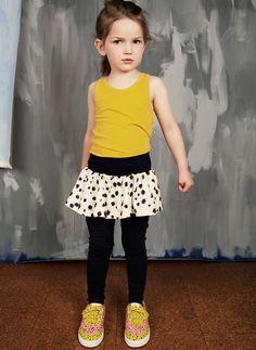 Mini Rodini Taches Skirt Leggings in Dark Blue