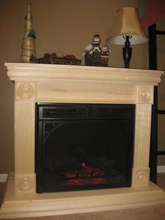 Build your own mantle for an electric fireplace