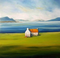 Painting Workshop on Achill Island, with Padraig McCaul Paintings I Love, Watercolor Paintings, Irish Painters, Rooster Painting, Wine And Canvas, Different Forms Of Art, Painting Workshop, Irish Art, Naive Art