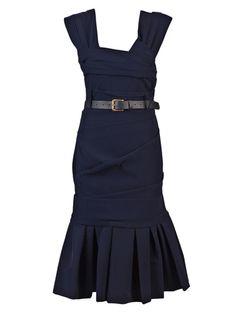 Beautiful navy dress.