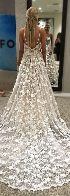 The skirt on this @bertabridal gown is so romantic, it's like something out of a fairytale.