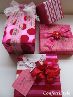 Pink! Custom Giftwrap by ConfettiStyle