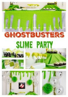DIY Ghostbusters Party at http://www.essentiallyerika.com/ghostbusters-party-diy-slime-wall/ ad #catchmoredata #ghostbusters @walmart