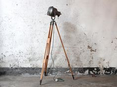Strand Patt Vintage Industrial Theatre Spotlight Tripod from Scaramanga Industrial Upcycled Furniture Collection