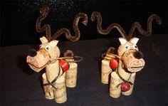 Come creare delle renne con dei tappi di sughero come lavoretto per Natale