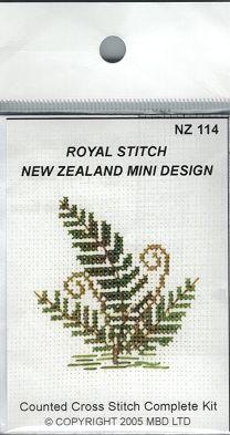 Cross-stitch kit - Fern