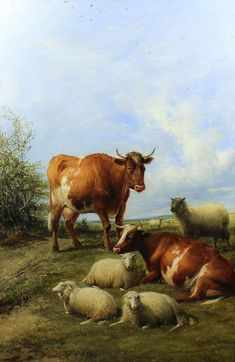 On a Farm in Kent, by Thomas Sydney Cooper, 1893
