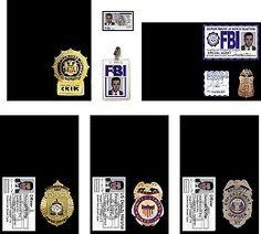 Printable Miniature Law Enforcement Badges