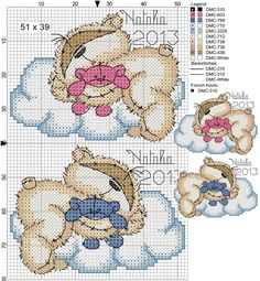 ♥embroidery designs →cross stitch pattern♥ by SoEasyPattern Baby Cross Stitch Patterns, Cross Stitch For Kids, Cross Stitch Baby, Cross Stitch Animals, Cross Stitch Charts, Cross Stitch Designs, Cross Stitching, Cross Stitch Embroidery, Cross Stitch Gallery