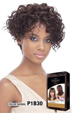 Cute and curly! This is a full cap synthetic wig with adjustable straps. Layered beautifully in the back. Synthetic Wigs, Color Show, Equality, Style Me, Curly, Hair Beauty, Hair Styles, Collection, Africa