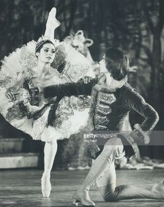 Rudolf Nureyev and Veronica Tennant; shown in a 1972 production of The Sleeping beauty; ate so popular that many ballet lovers can't get to see them; a reader protests; and there's standing room only for Nureyev next month. She says more opera and ballet tickets should go to non-subscribers.