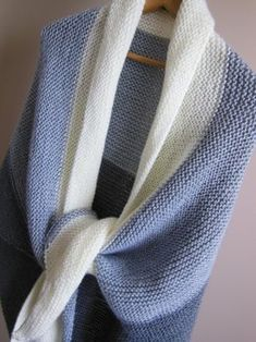 Back Porch Shawl Easy Knitting Pattern for Beginners