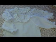 Tutorial y patrones para hacer una camisa de bebé con manga ranglan.
